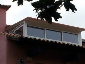 baie accordéon vue extérieure