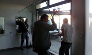 travaux d'installation baies vitrées