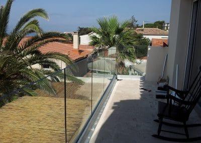 Garde-corps en verre de Montpellier à Agde