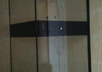 Pose de cabine de douche 90x90 - Miroiterie singulière