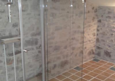 Parois de douche coulissantes pour cabine rectangulaire - Miroiterie singulière