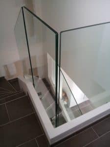 Garde-corps en verre à Montpellier escalier