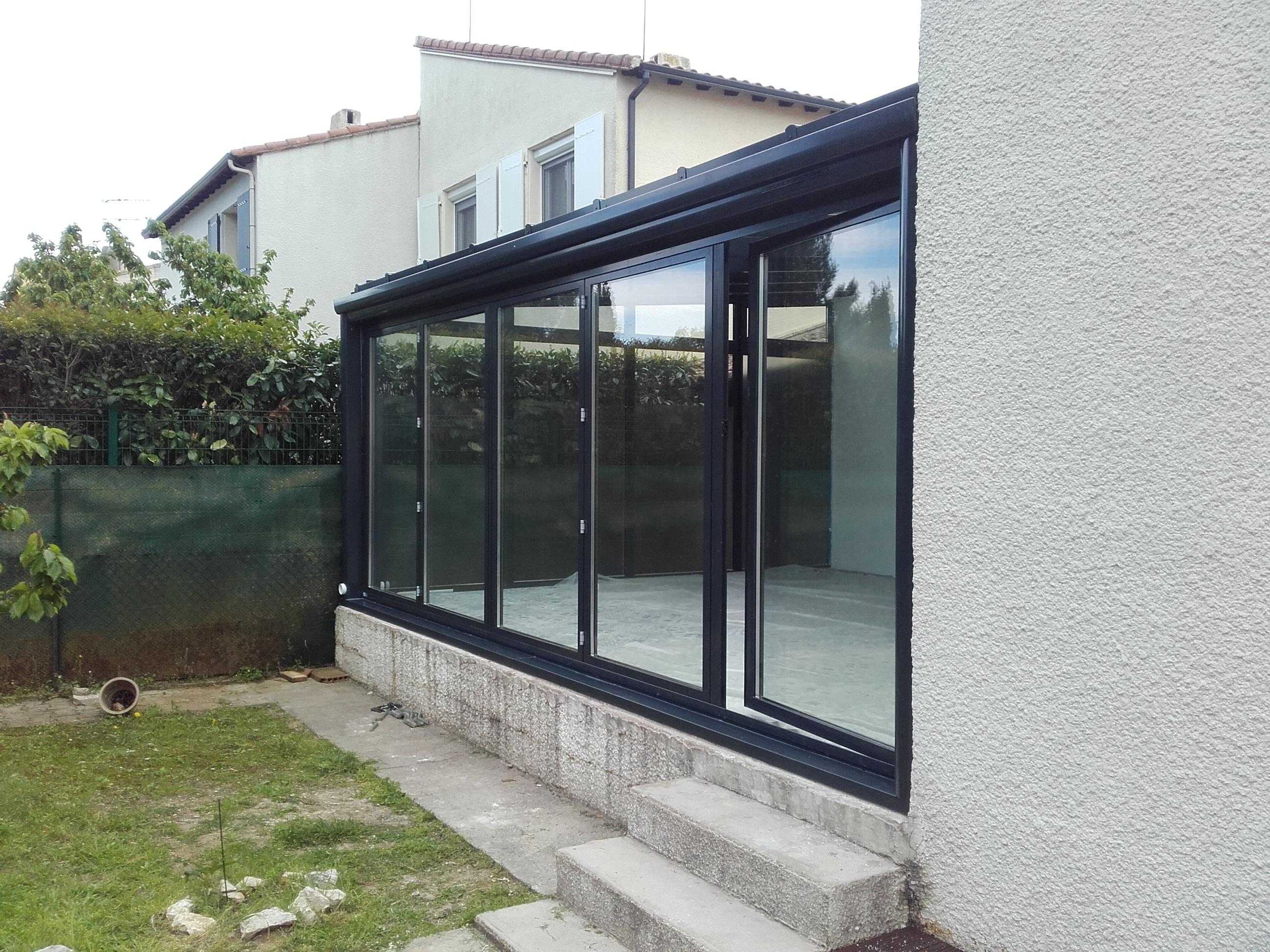baie vitrée de veranda