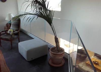 Garde-corps en verre extra-clair