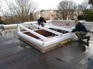 pose de toitures vitrées coulissantes