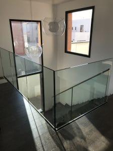garde corps en verre