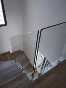 Garde-corps fixation points pour escalier
